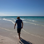 Tourists from around world enjoy the fine sugar white sand beaches of Varadero.<br />