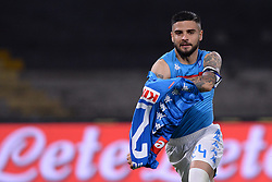 05.05.2019, Stadio San Paolo, Neapel, ITA, Serie A, SSC Napoli vs Cagliari Calcio, 35. Runde, im Bild Lorenzo Insigne (SSC Napoli) esulta dopo aver segnato la rete del 2-1 // Lorenzo Insigne (SSC Napoli) celebrates after scoring the 2-1 goal. during the Seria A 35th round match between SSC Napoli and Cagliari Calcio at the Stadio San Paolo in Neapel, Italy on 2019/05/05. EXPA Pictures © 2019, PhotoCredit: EXPA/ laPresse/ Cafaro<br /> <br /> *****ATTENTION - for AUT, SUI, CRO, SLO only*****