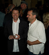 DANNY MOYNIHAN AND MARK HIX, book launch for 'Private Collection' by Danny Moynihan. Hix Oyster and Chop House. Cowcross st. London. 12 June 2008.  *** Local Caption *** -DO NOT ARCHIVE-© Copyright Photograph by Dafydd Jones. 248 Clapham Rd. London SW9 0PZ. Tel 0207 820 0771. www.dafjones.com.