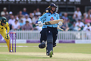 Danielle Wyatt of England (28) takes a single during the Royal London Women's One Day International match between England Women Cricket and Australia at the Fischer County Ground, Grace Road, Leicester, United Kingdom on 4 July 2019.