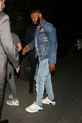 **PREMIUM EXCLUSIVE** Jamie Foxx attends a fundraiser held at Gerard Butler's house for the Malibu Fire Relief in West Hollywood. Jamie came to the charity event with his daughters (Not Pictured). Katie Holmes did not attend the fundraiser with Jamie. Butler, Robin Thicke, and Miley Cyrus were among thousands who lost their homes to the blazes, which have killed at least 74 people across the state. Up to a thousand are still unaccounted for. The 300 star invited his A-list friends to his West Hollywood home for the cause, hoping to raise at least $1million for fire relief. Remains of at least 74 people have been recovered so far in California. 71 of the victims are from the Camp Fire around the Sierra foothills hamlet of Paradise and three are from the Woolsey Fire near Los Angeles. Of the dead, 13 victims are yet to be identified. The once picturesque town was home to nearly 27,000 residents before it was largely incinerated by the deadly Camp Fire on the night of November 8. More than a week later, a team of more than 9,000 firefighters have managed to carve containment lines around 45 percent of the blaze's perimeter, up from 35 percent a day earlier. The powerful fire razed through more than 142,000 acres in a little over a week. Nearly 12,000 homes and buildings, including most of the town of Paradise, were incinerated hours after the blaze erupted, the California Department of Forestry and Fire Protection (Cal Fire) has said. Thousands of additional structures are still threatened by the Camp Hill fire, and as many as 50,000 people were under evacuation orders at the height of the blaze. 17 Nov 2018 Pictured: Jamie Foxx. Photo credit: Rachpoot/MEGA TheMegaAgency.com +1 888 505 6342