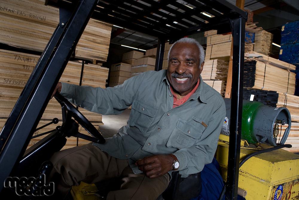 Senior forklift truck driver