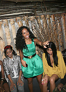 l to r: Teyana Taylor, Solange Knowles and Cassie at Solange Knowles NYC Album release party held at Butter in New York City on September 5, 2008