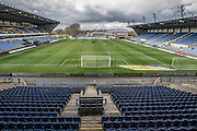 The Kassam Stadium during the Sky Bet League 2 match between Oxford United and Luton Town at the Kassam Stadium, Oxford, England on 16 April 2016. Photo by Shane Healey.