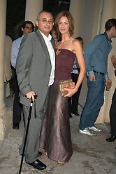 TRINNY WOODALL and her husband JONNY ELICHAOFF at the Tatler Summer Party in association with Moschino at Home House, 20 Portman Square, London W1 on 29th June 2005.<br /><br />NON EXCLUSIVE - WORLD RIGHTS