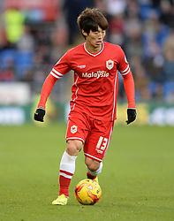 Cardiff City's Kim Bo-Kyung - Photo mandatory by-line: Alex James/JMP - Mobile: 07966 386802 - 06/12/2014 - SPORT - Football - Cardiff - Cardiff City Stadium  - Cardiff City v Rotherham United  - Football