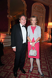 LORD & LADY ANDREW LLOYD WEBBER at a dinner hosted by HRH Prince Robert of Luxembourg in celebration of the 75th anniversary of the acquisition of Chateau Haut-Brion by his great-grandfather Clarence Dillon held at Lancaster House, London on 10th June 2010.