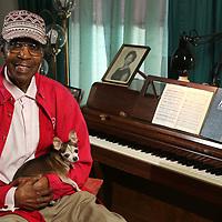 John Willis Jr., and his dog Pee Wee.