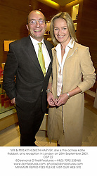 MR & MRS KIT HESKETH-HARVEY, she is the actress Katie Rabbet, at a reception in London on 25th September 2001.	OSP 22