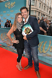 Vicky Ogden and Sam Attwater arriving at The opening night of Wind in The Willows at the London Palladium, Argyll Street, London England. 29 June 2017.<br /> Photo by Dominic O'Neill/SilverHub 0203 174 1069 sales@silverhubmedia.com