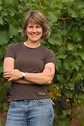 Portrait of Lynn Penner-Ash in her Yamhill-Carlton estate vineyard, Willamette Valley, Oregon
