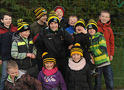 Young Louisburgh fans enjoying the Connacht Junior Football final in Kiltoom on sunday.<br /> Pic Conor McKeown
