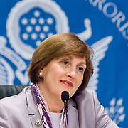 "Jamie Gorelick. Panel: Military Response on 9/11. The 9/11 Commission's 12th public hearing on ""The 9/11 Plot"" and ""National Crisis Management"" was held June 16-17, 2004, in Washington, DC."