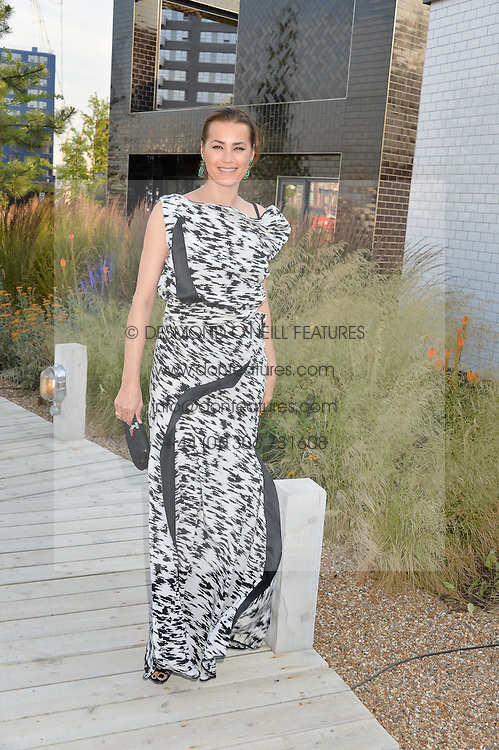 YASMIN LE BON at a reception hosted by Eco World Ballymore and the English National Ballet to celebrate their partnership at London City Island, Orchard Place, London E14 on 1st July 2015