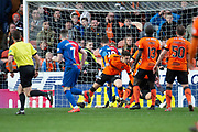 Aaron Doran (#10) of Inverness Caledonian Thistle FC scores the winning goal during the William Hill Scottish Cup quarter final match between Dundee United and Inverness CT at Tannadice Park, Dundee, Scotland on 3 March 2019.