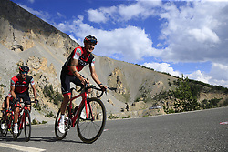 Nicolas Roche (IRL) BMC Racing Team climbs through the Caisse Deserte on Col d'Izoard during Stage 18 of the 104th edition of the Tour de France 2017, running 179.5km from Briancon to the summit of Col d'Izoard, France. 20th July 2017.<br /> Picture: Eoin Clarke | Cyclefile<br /> <br /> All photos usage must carry mandatory copyright credit (© Cyclefile | Eoin Clarke)