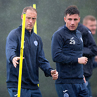St Johnstone Training....21.09.15<br /> Steven Anderson and Michael O'Halloran pictured during training at McDiarmid Park this morning<br /> Picture by Graeme Hart.<br /> Copyright Perthshire Picture Agency<br /> Tel: 01738 623350  Mobile: 07990 594431