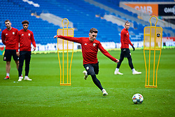 CARDIFF, WALES - Thursday, November 15, 2018: Wales' Harry Wilson during a press conference at the Cardiff City Stadium ahead of the UEFA Nations League Group Stage League B Group 4 match between Wales and Denmark. (Pic by David Rawcliffe/Propaganda)