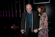 ALAN AYCKBOURN; KARA TOINTON, Absent Friends - press night  afterparty. Mint Leaf. Haymarket. London. Thursday 9 February 2012