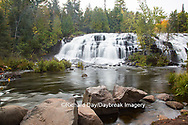 64797-00605 Bond Falls in fall, Ontonagon County, MI