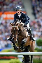 BRUYNSEELS Niels (BEL), Jenson van't Meulenhof <br /> Aachen - CHIO 2019<br /> Rolex Grand Prix 1. Umlauf<br /> Teil des Rolex Grand Slam of Show Jumping, Der Große Preis von Aachen. Springprüfung mit zwei Umläufen und Stechen <br /> 21. Juli 2019<br /> © www.sportfotos-lafrentz.de/Stefan Lafrentz