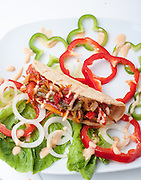 Vegetable Taco sandwich snack