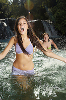 Two Young Women in Water