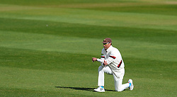 Dejection for Somerset's Marcus Trescothick - Photo mandatory by-line: Harry Trump/JMP - Mobile: 07966 386802 - 29/04/15 - SPORT - CRICKET - LVCC Division One - County Championship - Somerset v Middlesex - Day 4 - The County Ground, Taunton, England.