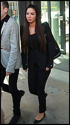 Singer Tulisa Contostavlos leaving Chelmsford magistrates court singer she is charged with assault on Savvas Morgan during the V festival in Chelmsford Essex. Friday 23rd May 2014. Photo By Sean Dempsey / i-Images