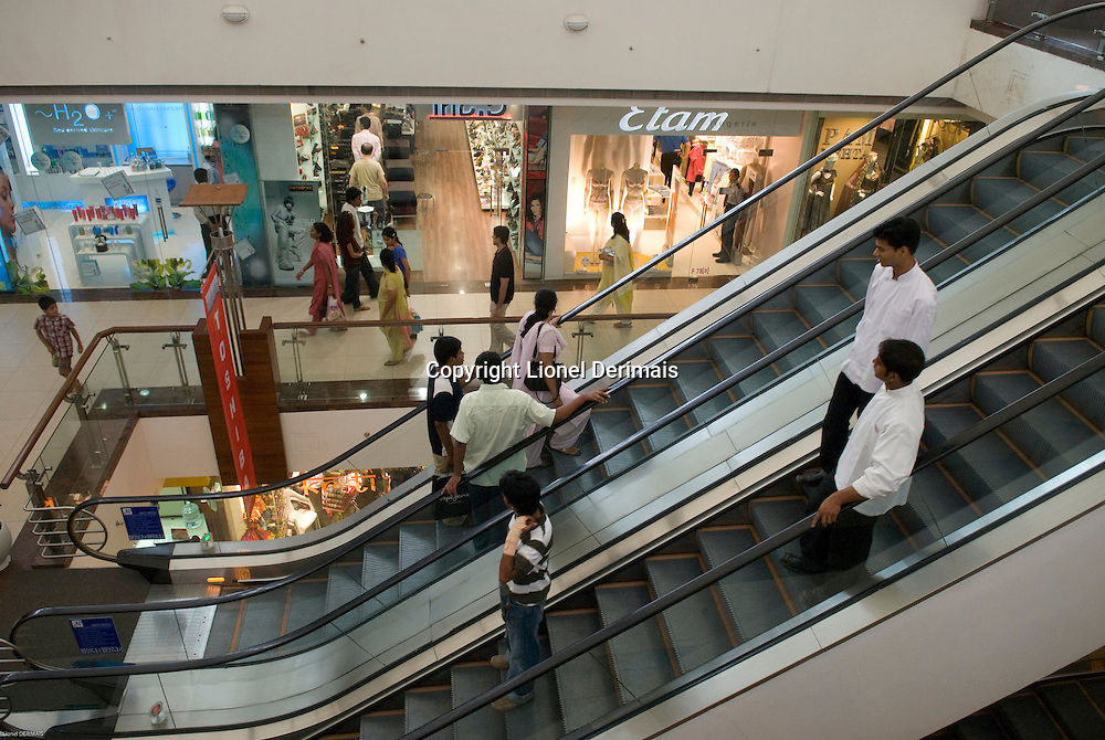 Select City Walk shopping mall in Saket, New Delhi, India.