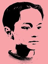Studio portrait of young boy,
