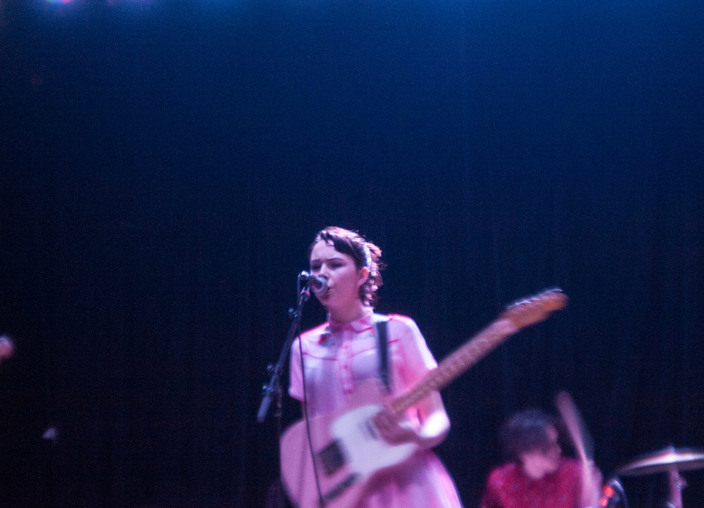 The Regrettes' Lydia Night performing at The Constellation Room in Santa Ana, CA, April 19, 2017.