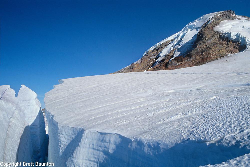 Mt. Baker, Coleman Glacier, Climbing, Crevasse