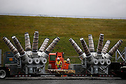 Four new transformers are delivered to the Robert Moses-Robert H. Saunders Dam in Massena on Wednesday, November 12, 2014.