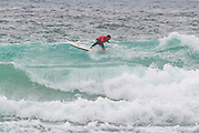 Adrian Napper (UK) cuts back during the Boardmasters Longboard Pro at Fistral Beach, Newquay, Cornwall, United Kingdom on 10 August 2019.