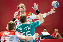 Kent Robin Tonnesen of Norway during handball match between National teams of Norway and Norway on Day 3 in Preliminary Round of Men's EHF EURO 2018, on January 14, 2018 in Arena Zatika, Porec, Croatia. Photo by Ziga Zupan / Sportida