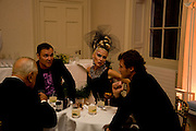 DAVID LACHAPELLE; DAPHNE GUINNESS; Henry Allsop, Nicky Haslam party for Janet de Bottona nd to celebrate 25 years of his Design Company.  Parkstead House. Roehampton. London. 16 October 2008.  *** Local Caption *** -DO NOT ARCHIVE-© Copyright Photograph by Dafydd Jones. 248 Clapham Rd. London SW9 0PZ. Tel 0207 820 0771. www.dafjones.com.<br /> DAVID LACHAPELLE; DAPHNE GUINNESS; Henry Allsop, Nicky Haslam party for Janet de Bottona nd to celebrate 25 years of his Design Company.  Parkstead House. Roehampton. London. 16 October 2008.