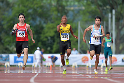 04/08/2017; Pototschnig, Alexander, T47, AUT, Thomas, Tevaughn Kevin, T46, JAM, Piriz, Alberto Nicolas, ARG at 2017 World Para Athletics Junior Championships, Nottwil, Switzerland