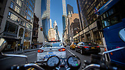 Riding on 57th street and 6th Avenue on Manhattan.