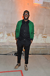 TINIE TEMPAH at a dinner hosted by Jonathan Saunders, Fantastic Man & Selfridges to celebrate Jonathan Saunders AW13 Menswear collection and London Collections held at the Old Selfridges Hotel,  Orchard Street, London on 8th January 2013.