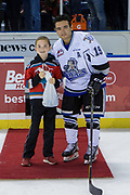 KELOWNA, CANADA - OCTOBER 05: First Star of the Game Dante Hannoun #19 of the Victoria Royals at the Kelowna Rockets game on October 05, 2018 at Prospera Place in Kelowna, British Columbia, Canada. (Photo By Cindy Rogers/Nyasa Photography, *** Local Caption ***