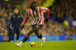 LIVERPOOL, ENGLAND - Wednesday, January 27, 2010: Sunderland's Kenwyne Jones in action against Everton during the Premiership match at Goodison Park. (Photo by: David Rawcliffe/Propaganda)