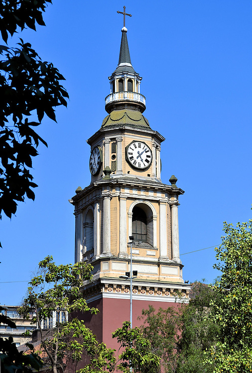 San Francisco Church Bell Tower in Santiago, Chile<br />