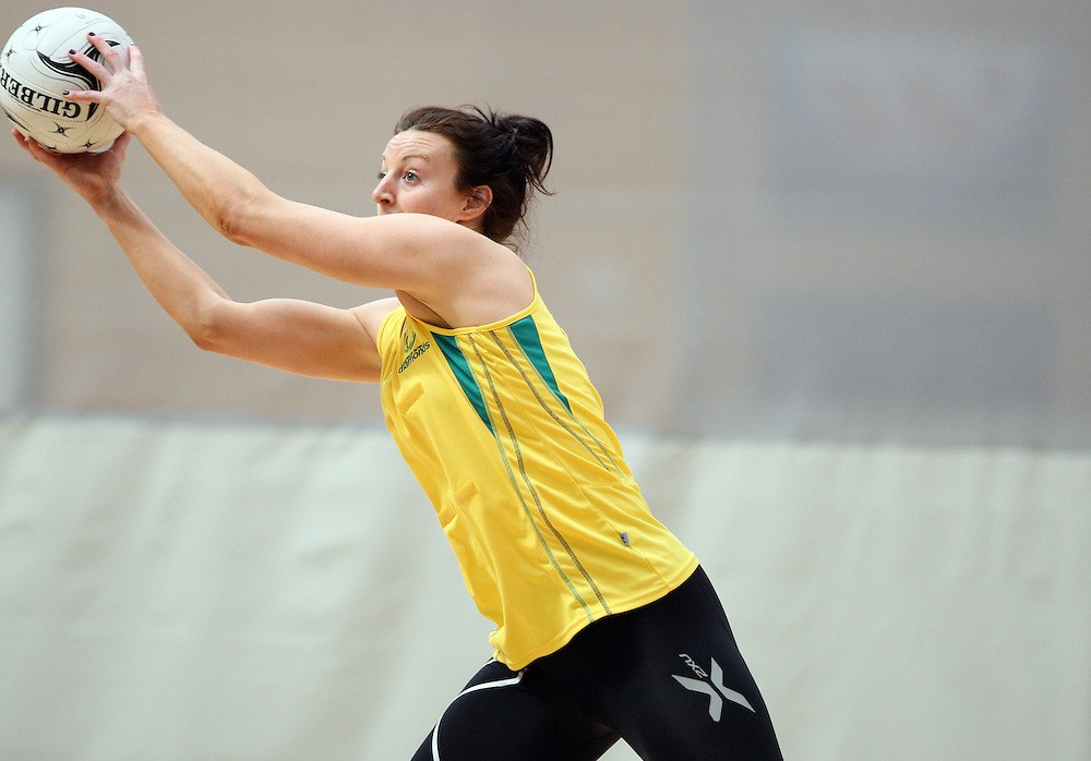 Australia's Bianca Chatfield at training for the New World Quad series netball match against England, TECT Arena, Tauranga, New Zealand, Saturday, October 27, 2012. Credit:SNPA / Dianne Manson.