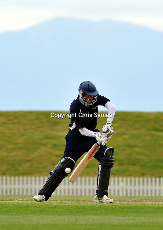 Nelson batsman Matt Macquet during the NZCPA Masters v Nelson at Saxton Oval, Nelson, New Zealand. Sunday 20 November 2011. Photo: Chris Symes/www.photosport.co.nz