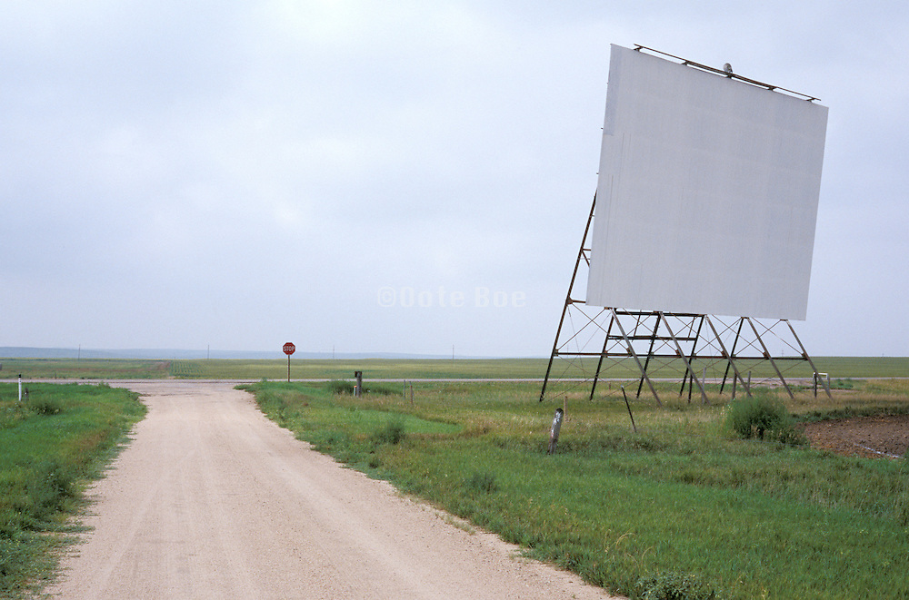 blank advertising sign by highway