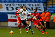 Bolton Wanderers midfielder Darren Pratley  during the Sky Bet Championship match between Bolton Wanderers and Milton Keynes Dons at the Macron Stadium, Bolton, England on 23 January 2016. Photo by Simon Davies.