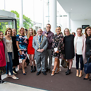 11.05. 2017.                                                 <br /> Over 20 leading Irish and international fashion media and influencers converged on Limerick for 24 hours on, Thursday, 11th May for a showcase of Limerick&rsquo;s fashion industry, culminating with Limerick School of Art &amp; Design, LIT, presenting the LSAD 360&deg; Fashion Show, sponsored by AIB.<br /> Pictured at the event were, Cllr. Kieran O'Hanlon, Mayor of Limerick City and County with the Limerick Tagged group. Picture: Alan Place