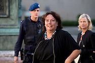 DEEN HAAG - Agnes Jongerius nederlandse leden van het europees parlement komen aan bij paleis Noordeinde  voor COPYRIGHT ROBIN UTRECHT