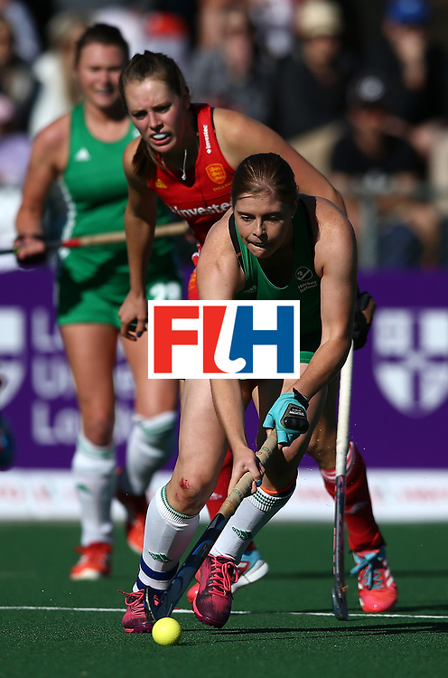 JOHANNESBURG, SOUTH AFRICA - JULY 16:  Kathryn Mullan of Ireland of Ireland controls the ball during day 5 of the FIH Hockey World League Women's Semi Finals Pool A match between England and Ireland at Wits University on July 16, 2017 in Johannesburg, South Africa.  (Photo by Jan Kruger/Getty Images for FIH)